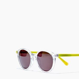 Madewell | NWT Layton Sunglasses Neon Yellow